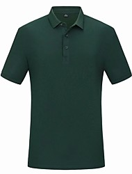 cheap -mens short sleeve polo shirts golf t shirts casual outdoor performance button polo tops deep teal x-large