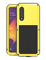 cheap -love mei metal case for samsung galaxy a50 6.4'',heavy duty outdoor shockproof dustproof anti-scratch hybrid aluminum metal robust bumper protection case with tempered glass screen (yellow)