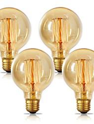 cheap -4pcs 2pcs 1pc G80 Incandescent Vintage Edison Light Bulb 40W E26 E27 Warm White 2300k Retro Dimmable Antique Tungsten 220-240V for Home Hotel Bistro