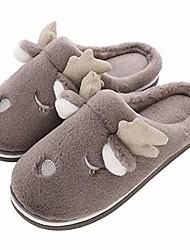cheap -women's slippers memory foam fuzzy slippers winter slippers cozy slippers indoor & outdoor slippers men's slippers (us women 11-12/us men 9-11, brown)