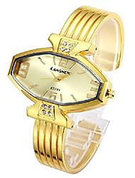 cheap -women ladies casual luxury gold rose gold tone alloy analog quartz bracelet watch rhombus dial rhinestones decorated elegant dress bangle cuff wristwatch-all gold
