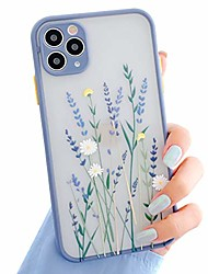 cheap -compatible with iphone 11 pro case for clear frosted pc back flowers pattern 3d floral girls woman and soft tpu bumper protective silicone slim shockproof case for iphone 11 pro-purple