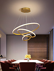 cheap -2-Light/3-Light Circle Chandelier Nordic Pendant Light Modern Gold Metal Painted Finishes Christmas Decoration 220-240V