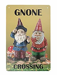 cheap -new metal tin sign retro vintage gnone crossing aluminum sign for home coffee wall decor 8x12 inch