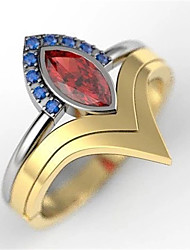 cheap -Ring AAA Cubic Zirconia Gold-Red Silver Gold 18K Gold Plated Mini Stylish 1pc 6 7 8 9 10 / Women's / Party / Gift / Daily