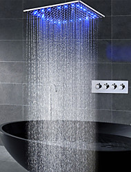 cheap -16 Inch Shower Faucets Sets Complete with Spray Rainfall Shower Head Ceiling Mounted LED Shower Head System(Contain Shower Faucet Rough-in Valve Body and Trim)