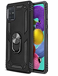 "cheap -phone case for [samsung galaxy a51 4g (6.5"" inch, 2020)], [ring series][black] full rotating metal ring shockproof cover with kickstand for galaxy a51 (verizon, sprint, at&t, visible)"