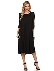 cheap -women's a-line midi dress (small, black)