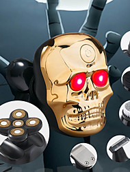 cheap -New 5D Floating Razor Skull Shape Multifunctional Razor Men 6 In 1 Set Bald Machine USB Charge