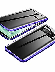cheap -anti-spy case for samsung galaxy s10,  360 degree front and back privacy tempered glass cover, anti peeping screen, magnetic adsorption metal bumper for samsung galaxy s10 (blue)