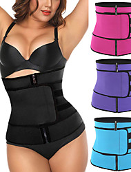 cheap -Body Shaper Sweat Waist Trimmer Sweat Waist Trainer Corset Sports Spandex Neoprene Yoga Fitness Gym Workout Adjustable Zipper Non Toxic Slimming Weight Loss Tummy Fat Burner For Men Women / Adults'