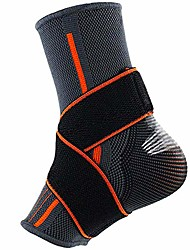 cheap -beister 1 pack ankle brace compression support sleeve with adjustable elastic strap for women and men, sprain plantar fasciitis foot socks for injury recovery, joint pain, achilles tendon, heel spurs