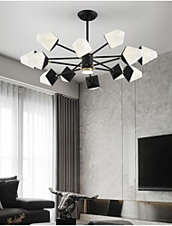 cheap -8/10/12 Heads LED Chandelier Modern Pendant Light Black Sputnik Design Metal Painted Finishes 110-120V 220-240V