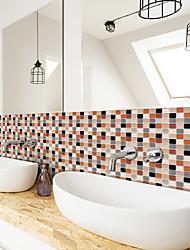 cheap -3D Mosaic Agate Orange Wall Sticker Bathroom Waterproof Tile Sticker Kitchen Oil Repellent Antifouling Sticker 240*20cm