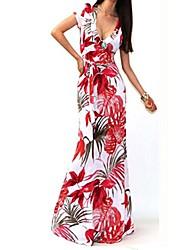 cheap -women summer boho long maxi beach dresses (xl, red)