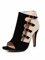 cheap -open toe women platform high heel shoes buckle pump boots for party prom (us 9, black)