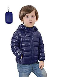 cheap -girls light weight hooded winter cold weather puffer coat parka downs navy blue