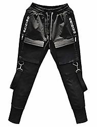 cheap -Men's Cargo Pants Track Pants Street Bottoms Workout Walking Jogging Zipper Pocket Breathable Multi Pockets Sport Black / Athleisure
