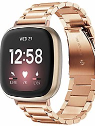 cheap -metal band compatible with fitbit versa 3/fitbit sense smart watch for men women -stainless steel loop replacement bracelet wristband strap for fitbit versa 3/sense smartwatch accessories