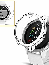 cheap -[2+1 pack] Smartwatch Screen Protector compatible garmin vivoactive 3 case cover with Screen Protector soft tpu plated protective bumper shell + tempered glass  film for garmin vivoactive 3 clear