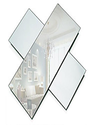 cheap -rectangle mirror tray - mirrors glass plates - 5 x 12 inch with 2 mm round edge - great as wedding and party table centerpieces, candle plate holder, wall decor. (set of 3)
