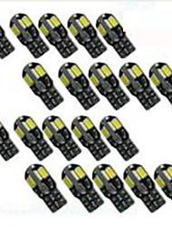 cheap -20PCS led Car Interior Bulb Canbus Error Free T10 White 5730 8SMD LED 12V Car Side Wedge Light White Lamp Auto Bulb Car Styling