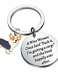 cheap -corgi gift corgi mom gift a wise women one said fuck it i'm getting a corgi,and she lives happily ever after keychain gift for dog lover… (corgi keychain)