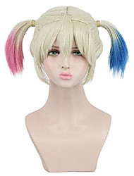 cheap -yuehong multicolor medium synthetic hair dyeing anime cosplay wig heat resistant fiber wigs