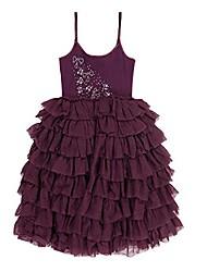 cheap -girls' little bee-spoke dress plum, 4y