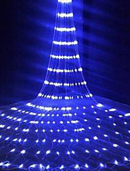 cheap -1X 3X3M IP65 Waterfall Curtain Led Fairy String Light Garland Water Flow Meteor Shower Rain Lights For Window Icicle Colorful Decor Lighting AC110V 120V 220V 230V 240V EU US Plug