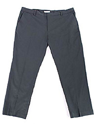 cheap -men's stretch dress pant, charcoal, 32w x 32l