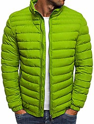 cheap -men's quilted flight bomber jacket midweight winter windbreaker softshell casual outwear coat (green,xx-large)