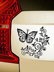 cheap -Flower Rattan Butterfly Sticker Toilet Sticker Refrigerator Personalized Sticker Car Hood Rear Window Car Glass Customization 28*27CM