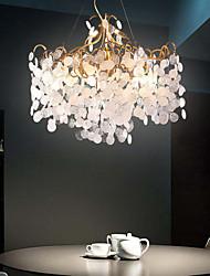 cheap -8-Light 60 cm Chandelier Metal Glass Sputnik Electroplated Traditional / Classic 110-120V / 220-240V