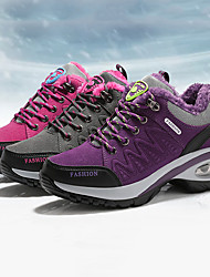 cheap -Women's Sneakers Hiking Shoes Hiking Boots Anti-Slip Shock Absorption Breathable Wearable Hiking Outdoor Exercise Running Fall & Winter Dark Grey Violet Rose Red / Round Toe