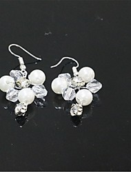 cheap -Women's Drop Earrings Classic Lucky Imitation Pearl Imitation Diamond Earrings Jewelry White For Wedding