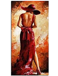 cheap -Superb Artist Hand painted King Size  Portrait Oil Painting for Living Room Customize Abstract Sexy Girl Oil Painting Rolled Canvas No Frame Unstretched