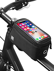 cheap -0.8 L Bike Frame Bag Top Tube Touch Screen Portable Phone / Iphone Bike Bag 600D Polyester Bicycle Bag Cycle Bag Bike / Bicycle