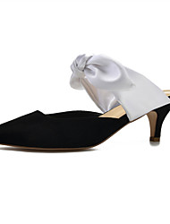 cheap -Women's Wedding Shoes High Heel Pointed Toe Wedding Party & Evening Satin Bowknot White Black Yellow