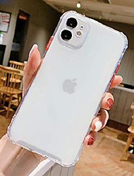 cheap -iphone 11 clear case, cute macaron candy color ultra slim flexible tpu phone case with design air cushion shockproof, protective back cover cases for apple iphone 11 6.1inches (white)