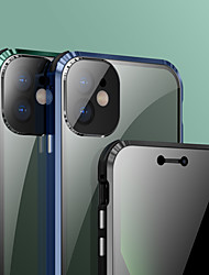 cheap -Privacy Magnetic Cases for iPhone 12 / iPhone 12 Mini / iPhone 12 Pro, Anti Peeping Double-Sided Magnet Absorption Metal Bumper Phone Cases Cover with Camera Lens Protection for iPhone 11/11 Pro