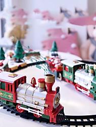 cheap -Christmas Electric Rail Car Train Toy Railway Train Set Racing Road Transportation Building Toys Children's Electric Toy 1 pc Gift Box