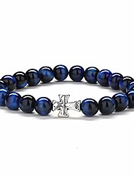 cheap -gifts for mens bracelet tiger eye - 8mm natural stone mens anxiety bracelet, blue tiger eye yoga beads bracelets stress relief hope bracelet religious cross bracelet for women gifts christian gifts