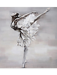cheap -Portrait Oil Painting On Canvas Dance Girl Abstract Contemporary Art Wall Paintings Handmade Painting Home Office Decorations Canvas Wall Art Painting Rolled Canvas No Frame