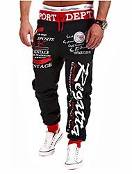 cheap -mens Joggers hip hop jogger sport harem pants graffiti  Streetwear sweatpants  Trousers with pockets (style a,34-36 inch)