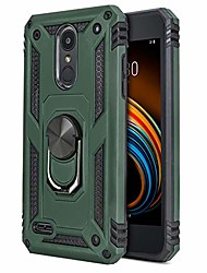 cheap -phone case for [lg k8s (2019) us cellular], [ring series][green] shockproof defender [full rotating metal ring] cover with built-in kickstand for lg k8s (2019) us cellular