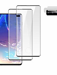 """cheap -[2+2] galaxy s10 plus screen protector tempered glass, camera lens protector [ultrasonic fingerprint compatible] [9h hardness] [sensitive touch] [full coverage] for samsung galaxy s10+ (6.4"""")"""