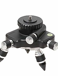 cheap -laser level adapter, metal 360-degree rotating base for laser level tripod connector, 1/4'' threaded mount and horizontal bubble, micro-adjust fine turning pivoting base at2
