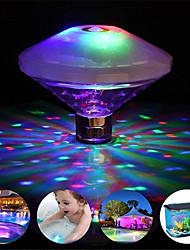 cheap -1X IP68 Floating Underwater Light  RGB Submersible LED Glow Show Swimming Pool Hot Tub Spa Lamp Baby Bath Light AAA Battery Power (Come without Battery)