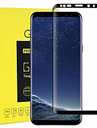 cheap -protective glass screen protector for samsung galaxy s8-3d curved edge full cover tempered glass screen protector compatible for galaxy s8 (black)